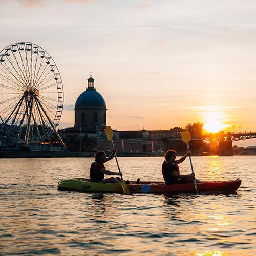 Canoe kayak sur la Garonne