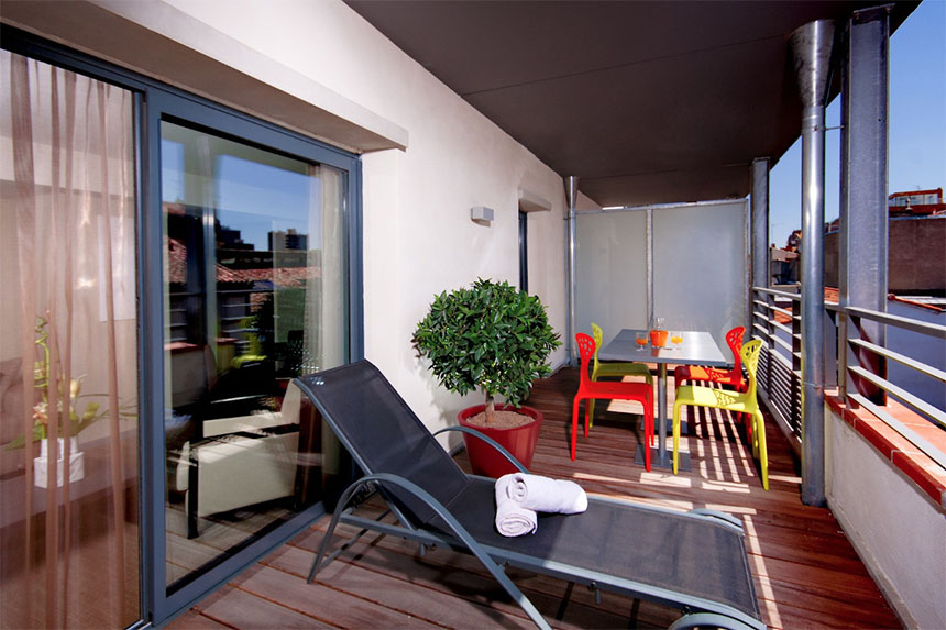 Meetings - Appart-Hôtel Clément Ader, terrasse